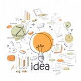 Creative stylish idea business infographic elements. Stock Photo