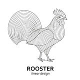 Creative stylized rooster Stock Images