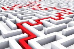 Path across endless labyrinth Stock Photos