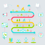 Creative Summer Outdoor Activities Infographics Icons Elements Stock Photos