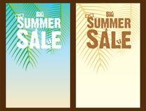 Creative summer sale banner design. Creative big summer sale template poster design Royalty Free Stock Photography