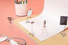 Creative supplies photo studio Stock Photos