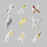 Creative sword collection set Royalty Free Stock Photography