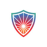 Creative Symbol inside Shield. Security Technology, Safety Symbol Royalty Free Stock Photography