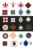 Creative symbols design elements collection Stock Photos
