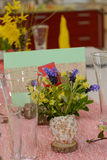 Creative table decoration for Easter royalty free stock photos