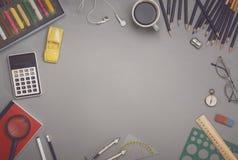 Creative table top hero header Stock Image