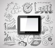 Creative tablet pc idea Royalty Free Stock Photography
