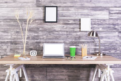 Creative tabletop white screen Royalty Free Stock Images