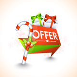 Creative tag design for Christmas offer. Royalty Free Stock Images