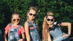 Creative Team of Attractive Teen Girls is Posing Stock Photos
