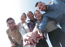 Creative team,with hands clasped together Stock Photo