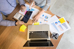 Creative Team job. young business man working with startup proje Stock Photos