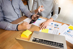 Creative Team job. young business man working with startup proje Royalty Free Stock Photo