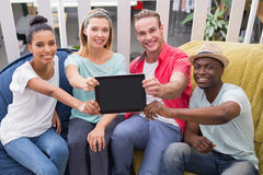 Creative team people with digital tablet Royalty Free Stock Image