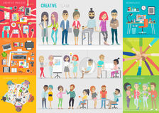 Creative team set. Stock Image