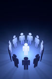 The creative team (symbolic figures of people) Royalty Free Stock Image