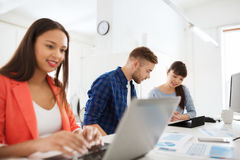 Creative team with tablet pc and papers at office Royalty Free Stock Photography