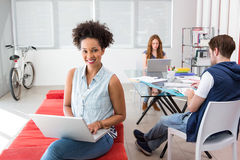Creative team using laptops Royalty Free Stock Images