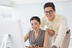Creative team working at desk Stock Photography
