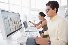 Creative team working at desk Royalty Free Stock Images