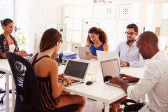 Creative Team Working In Office Of Start Up Business Stock Photos