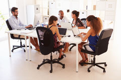 Creative Team Working In Office Of Start Up Business Stock Images