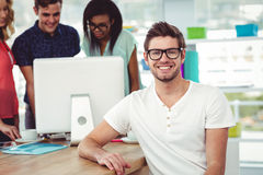 Creative team working together Royalty Free Stock Photo
