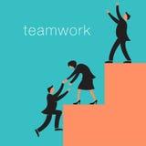 Creative teamwork background Stock Photo