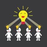 Creative teamwork symbol Stock Photography