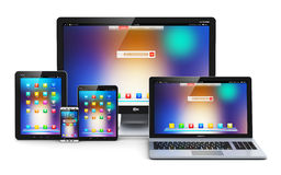 Modern computer devices Royalty Free Stock Images