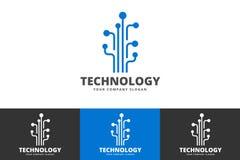 Creative Technology Logo Isolated on White Background royalty free illustration