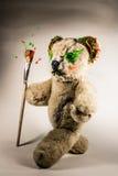 Creative teddy bear walking with paintbrush Royalty Free Stock Photos