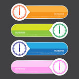 Creative Template Banner, Vector Work Stock Photos