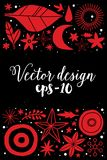 Creative template with flowers and abstract hand drawn elements. Can be used for advertising, graphic design. Creative template with flowers and abstract hand Royalty Free Stock Photography