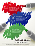 Creative template with mark pen writing something infographic Royalty Free Stock Photography