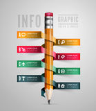 Creative Template with pencil ribbon Stock Image