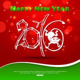 Creative text design with monkey and bokeh lights. Symbol of 2016 on the Chinese Calendar.  The year of monkey. Vector illustration Royalty Free Stock Image