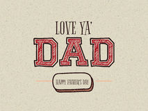 Creative text for Happy Fathers Day celebration. Stock Image