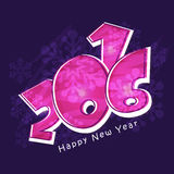 Creative text for Happy New Year 2016. Royalty Free Stock Photography
