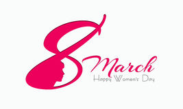 Creative text for Happy Women's Day celebration. Royalty Free Stock Image