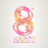 Creative text for International Womens Day celebration. Royalty Free Stock Photo