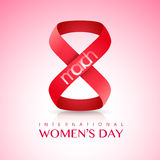 Creative text for International Women's Day. Stock Image