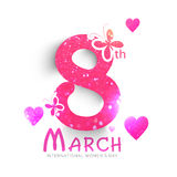 Creative text for International Women's Day. Royalty Free Stock Images