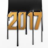 Creative text 2017 Royalty Free Stock Photos