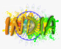 Creative Text for Republic Day celebration. Royalty Free Stock Photo
