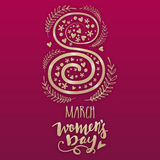 Creative text for Women's Day celebration. Stock Images