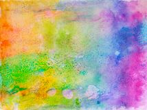 Creative texture for design. Vibrant hand painted watercolor background. Handmade overlay. Decorative chaotic colorful textured pa. Creative texture for design Stock Photography