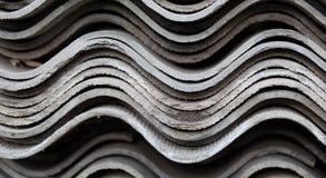 Creative texture. Photo of corrugated asbestos board Stock Image