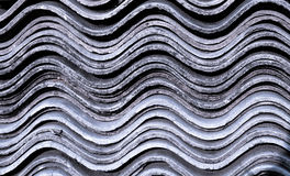 Creative texture. Photo of corrugated asbestos board Stock Photography